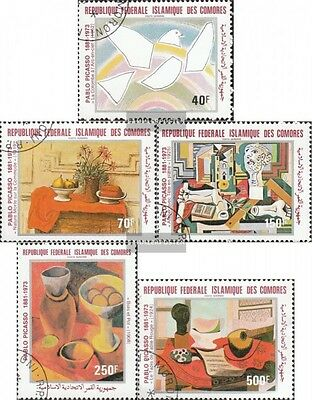 Comoros 620-624 fine used / cancelled 1981 Pablo Picasso