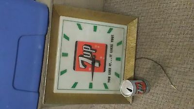 Vintage 7 Up Lighted Clock You Like It...it Likes You