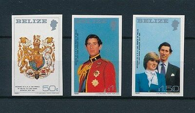 [L0174] Belize 1981 : Royal - Good Set of Very Fine MNH Imperforated Stamps