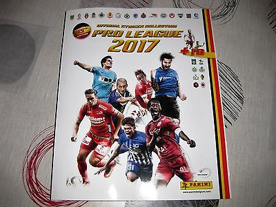 Album neuf vide de pro league Foot 2017   (panini) + 6 stickers