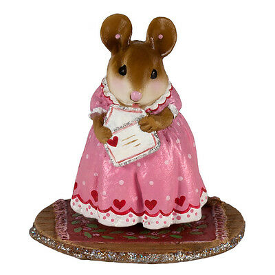 SEALED WITH A KISS by Wee Forest Folk, WFF# M-605, New Valentine Mouse 2017