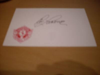 signed card of ex liverpool goalkeeper tommy lawrence