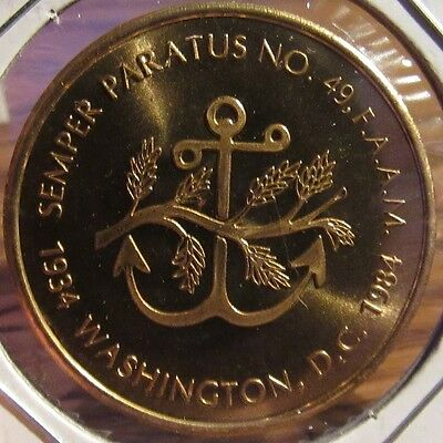 1984 Semper Paratus Masonic Washington DC Token Coin - District of Columbia