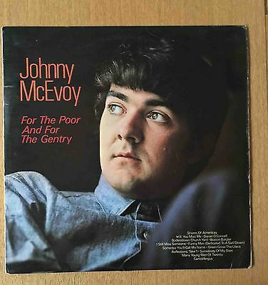 Johnny McEvoy 1967 Vinyl LP For The Poor and for the Gentry Ireland Folk Music