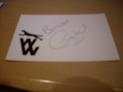 signed card of ex wolves footballer andy mutch