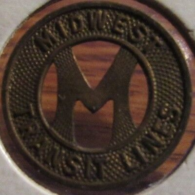 1945 Midwest Transit Lines Ames, IA Bus Token - Iowa
