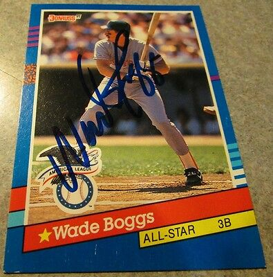 Wade Boggs Signed Autographed 1991 Donruss #55 - Boston Red Sox MA HOF