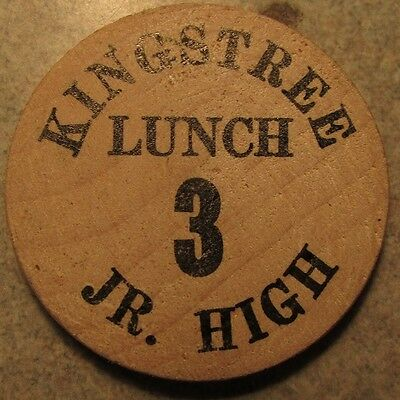 Vintage Kingstree Jr. High Kingstree, SC Wooden Nickel - Token South Carolina
