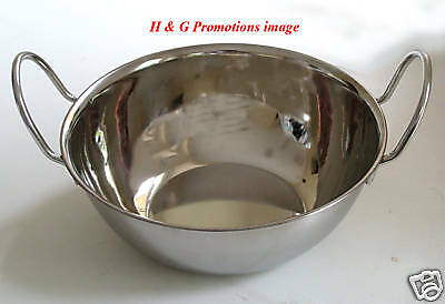 4 LG x BALTI DISH,CURRY BOWLS,KALAI,SERVING DISHES,BOWL