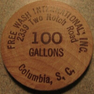 Vintage Free Wash International Columbia, SC Wooden Nickel - South Carolina