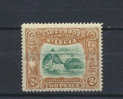 No: 48049 - ST LUCIA - AN OLD 2 d STAMP - MH!