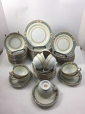 ADLINE CHINA ADL2 57 PIECE SET Made in OCCUPIED JAPAN Plates Cups Saucers Floral