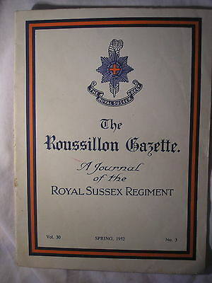 Royal Sussex Regiment Journal 1952 PWRR History British Army