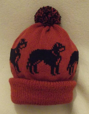 ROTTWEILER dog NEW Knitted RUST Adult size beanie pompom bobble HAT