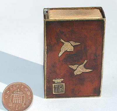 BEAUTIFUL 19th CENTURY SIGNED ORIENTAL VESTA CASE JAPANESE MOUNT FUJI - LOT 126