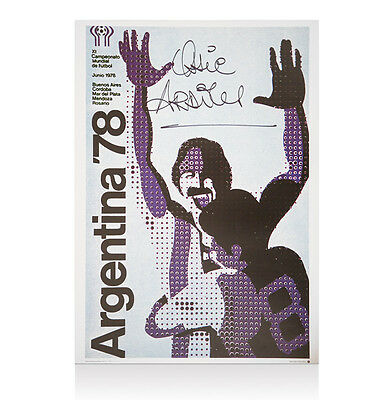 Ossie Ardiles Signed Print - Argentina 1978 World Cup Poster Autograph