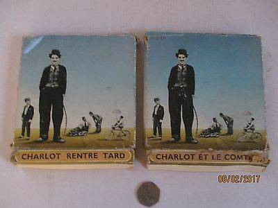 """Charlie Chaplin---2 X 8Mm Movies---5""""---""""charlie Returns Late"""" And """"the Count"""""""