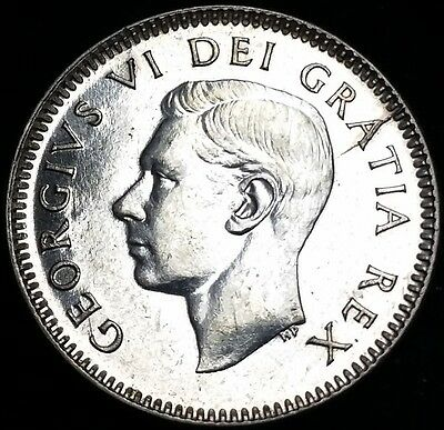 1950 Canada 0.800 Silver Dime - 10 Cents **HIGH GRADE** Free Combined S/H