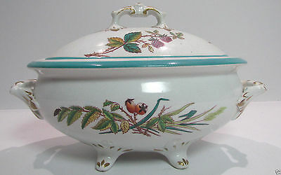 Hand Painted Small Ironstone Tureen