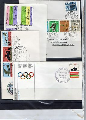 5 Better First Day Covers Fine Condition