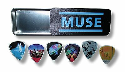 Muse Album Covers Guitar Pick Set of 6 Six in Collectible Tin New Official