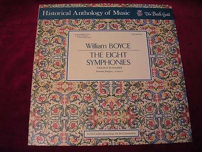 WILLIAM BOYCE: 8 Symphonies - Historical Anthology of Music Bach Guild HM 23SD