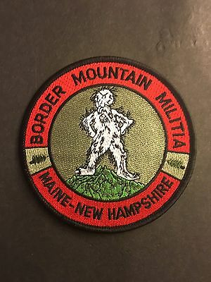 Maine New Hampshire Border  Mountain Militia  Shoulder Patch