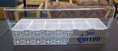 Jose Cuervo Tequila Stainless Steel 6 Compartment Garnish / Bar Caddy - New!