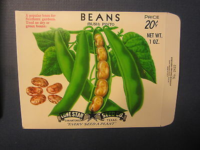 Wholesale Lot of 100 Old Vintage Pinto BEANS SEED PACKETS - San Antonio - EMPTY