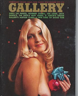 GALLERY MAGAZINE DECEMBER 1973 RARE VINTAGE in near mint condition & OOP