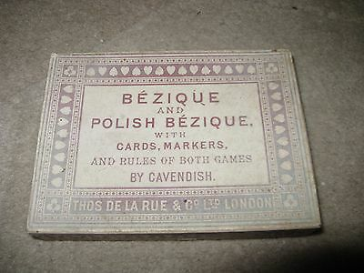 Vintage Bezique & Polish Bezique Card Game in Original Box