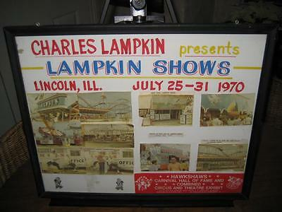 Rare Vintage Framed 1970 Charles Lampkin Shows Advertising & Sideshow Photos