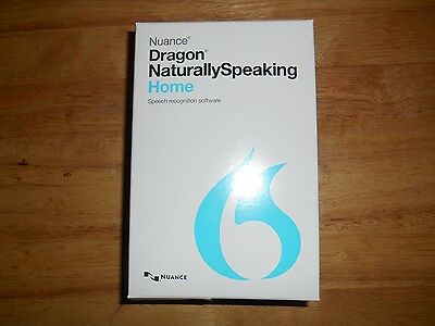 Nuance Dragon NaturallySpeaking Home 13 * Speech Recognition * With Microphone