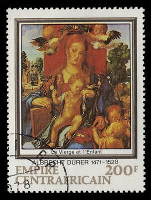 "CENTRAL AFRICAN REPUBLIC 347 - ""Virgin and Child"" by Durer (pf35478)"