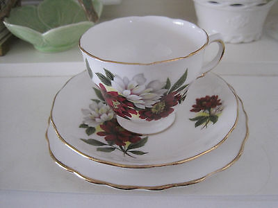 Beautiful Vintage Royal Vale Floral Fine Bone China Trio