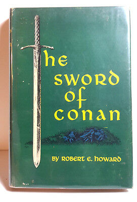 1952 Sword of Conan Gnome Pree Hardcover Book w DJ- RE Howard 1st Print (M5684)