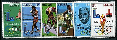 Belize MiNr. 563-68 postfrisch/ MNH Olympiade 1984 (Oly96
