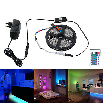 Bed Light Led Strip 5050 PIR Infrared Motion Sensor Detector +12V Power Adapter