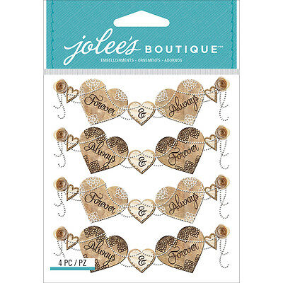 Jolee's Boutique Dimensional Stickers-Wedding Banner