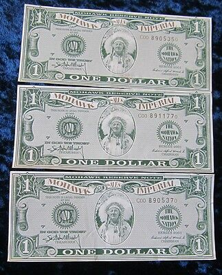 3 Mohawk Imperial Dollars Series 2001