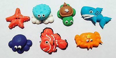 14 x Edible 3D Sea Critter Cupcake Toppers Decorations Party Cakes Under the Sea