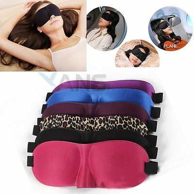 3D Eye Mask Shade Cover Rest Eyepatch Blindfold Shield Travel Sleeping Aid AUS