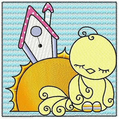 Sleep Time Birds 10 Machine Embroidery Designs Cd 3 Sizes Included