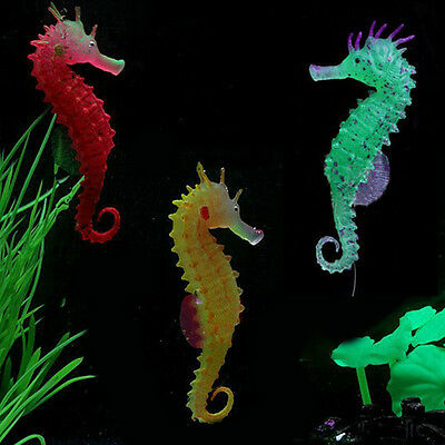 Sea Horse Aquarium Fish Tank soft nice Luminous Hippocampus Decoration U87