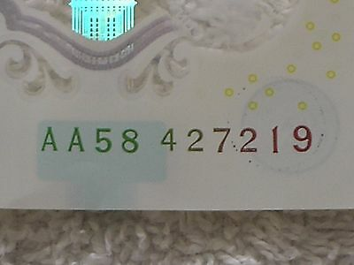 £5 Note Aa58427219