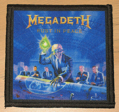 "MEGADETH ""RUST IN PEACE"" silk screen PATCH"