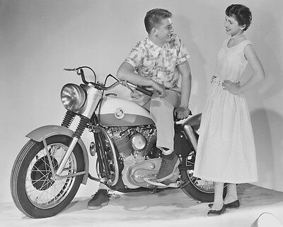 Harley Davidson XL Sportster introduction 1957 - motorcycle photo photograph