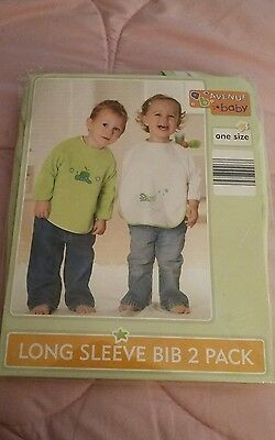 Pack of two baby sleeved bibs -New