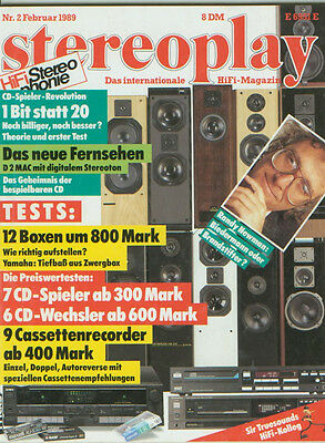 Stereopl.2/89 Ecouton LQL 70,Heybrook HB 2.5,Fisher AD 724,Pioneer CT 333,ARES L