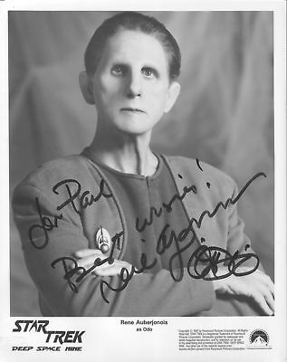 Star Trek Odo Rene Auberjonois Autographed Photo